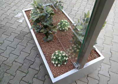 Windscherm horeca RVS plantenbak