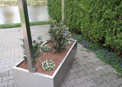Horeca windscherm mobiele plantenbak