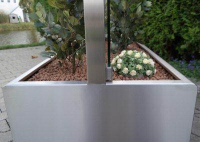 horeca windscherm verplaatsbare plantenbak