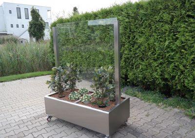 verrijdbare plantenbak, RVS Plantenbak